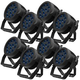 ADJ American DJ 12P HEX IP RGBAW+UV IP65 Rated LED Par Light 8-Pack