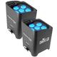Chauvet Freedom Par Tri-6 RGB Battery-Powered Wireless Wash Light 2-Pack