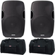 Gemini AS-15BLU 15-Inch Bluetooth Speakers & Totes