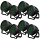 ADJ American DJ 18P HEX IP RGBAW+UV IP65 Rated LED Par Light 8-Pack
