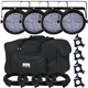 Chauvet SlimPAR 64 RGB Wash Light 4-Pack w/ Accessories & Gator Bag
