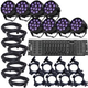 Eliminator Mini Par UV LED Par Light 8-Pack w/ Controller & Accessories