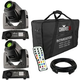 Chauvet Intimidator Spot 255 IRC 2-Pack w/ Cable, Remote & Bag
