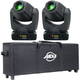 ADJ American DJ Inno Spot Pro LED Moving Head 2-Pack w/ Rolling Bag