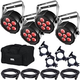 Chauvet SlimPAR Q6 USB Light 4-Pack w/ Accessories & Gator Bag