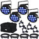 Chauvet SlimPAR T12 USB RGB 4-Pack w/ Accessories & Gator Bag