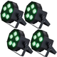 Martin THRILL Compact Par 64 RGBAW+UV LED Wash Light 4-pack