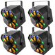 Chauvet Swarm Wash FX 4-in-1 Laser & LED Effect Light 4-pack