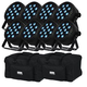 Blizzard LB PAR Quad RGBW Wash Light 8-Pack w/ Gator Bags