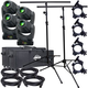 ADJ American DJ Inno Spot Pro Moving Head 4-Pack w/ Stands & Bags