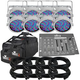 Chauvet SlimPAR 56 WHT RGB Light 8-Pack w/ DMX Controller & Bag