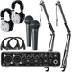 Behringer UMC204HD Podcast Bundle w/ Headphones