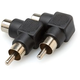 Adapter RCA (F) to RT Angle RCA (M) (2-Pk)