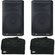 Peavey DM115 Dark Matter Speakers w/ Carry Bags