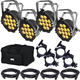 Chauvet SlimPAR Pro W USB Wash Lights x4 w/ Gator Bag & Accessories