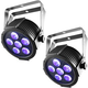 Chauvet SlimPAR H6 USB DMX RGBAW+UV Wash Light 2-Pack