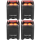Chauvet Freedom Par Quad-4 RGBA Battery-Powered Wireless Wash Light 4-Pack