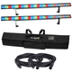 Chauvet COLORstrip RGB Light 2-Pack w/ DMX Cables & Soft Case