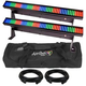 Chauvet COLORstrip Mini LED Wash Bars x2 w/ Bag and DMX Cables