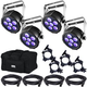 Chauvet SlimPAR H6 USB RGBAW+UV Wash Lights x4 w/ Gator Bag & Accessories