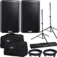 Alto TS310 10-Inch 2000w Powered Speakers w/ Totes & Stands