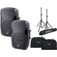 Gemini AS-10 10-Inch Passive Speakers w/ Totes & Speaker Stands