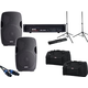 Gemini AS-15 15-Inch Passive Speakers w/ Totes & Stands