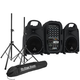 Behringer Europort PPA500BT Portable PA System w/ Stands