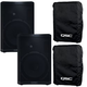 QSC CP12 12-Inch Speaker Pair w/ Outdoor Covers