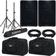 QSC CP12 12-Inch Speaker Pair w/ Stands & Totes