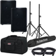 QSC CP8 8-Inch Speaker Pair w/ Totes & Stands