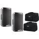 Alto TS308 8-Inch 2 Way Powered Speakers w/ Gator Totes
