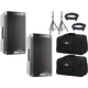 Alto TS308 8-Inch 2 Way Powered Speakers w/ Gator Totes & Stands