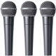Behringer Ultravoice XM8500 Dynamic Vocal Mic 3-Pack