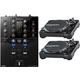 Pioneer DJM-S3 2-Channel Mixer for Serato DJ w/ Stanton Turntables