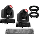 Chauvet Intimidator Spot 110 Moving Head 2-Pack w/ DMX Controller