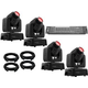 Chauvet Intimidator Spot 110 Moving Head 4-Pack w/ DMX Controller