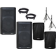 Peavey DM112 12-Inch Powered Speaker Pair w/ Stands & Covers
