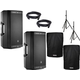 JBL EON612 12-Inch 1000W Powered Speaker Pair w/ Stands & Covers