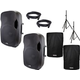 Gemini AS-15BLU 15-Inch Powered Speaker Pair w/ Stands & Covers