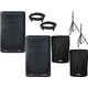 Peavey DM115 15-Inch Powered Speaker Pair w/ Stands & Cases