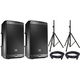 JBL EON610 Powered Speaker Pair w/ Cables & Stands