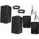 American Audio ATX-15W 15-Inch Powered Speaker Pair w/ Stands & Covers