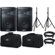 Alto TX208 8-Inch Powered Speaker Pair w/ Stands & Tote Bags