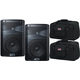 ALTO TX208 8-Inch Powered Speaker Pair w/ Totes