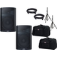 Alto TX212 12-Inch Powered Speaker Pair w/ Stands & Totes