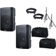 Alto TX215 15-Inch Powered Speaker Pair w/ Stands & Totes
