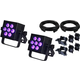 Blizzard HotBox EXA Wash Light 2-Pack w/ DMX Cables & Clamps