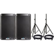 Alto TS308 8-Inch Powered Speaker Pair w/ Cablees & Stand