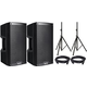 Alto TS310 10-Inch Powered Speaker Pair w/ Cables & Stands